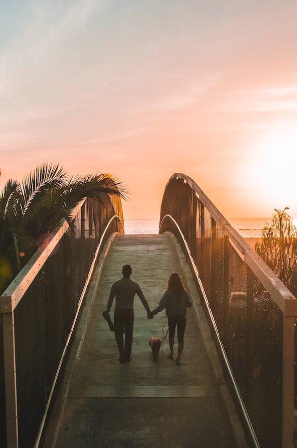 Zukunft Paar am Strand