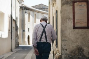 Alter Mann Altersvorsorge